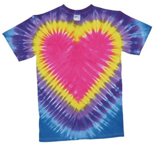 Custom Bright Pink Heart Short Sleeve T-Shirt