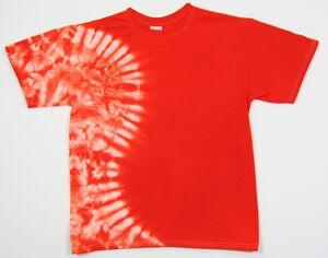 Custom Orange Vertical Wave Short Sleeve T-Shirt
