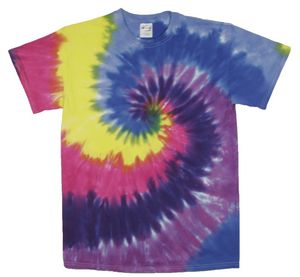 Custom Bright Pink Spiral Short Sleeve T-Shirt