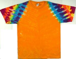 Custom Golden Rainbow Zig Zag Short Sleeve T-Shirt