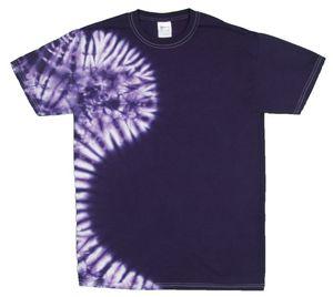 Custom Purple Vertical Wave Short Sleeve T-Shirt
