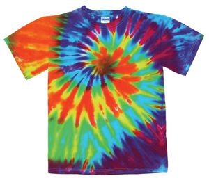 Custom Intense Rainbow Spiral Short Sleeve T-Shirt