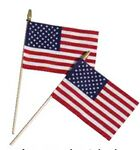Custom Cotton Stick Flag W/Spear Tip (4