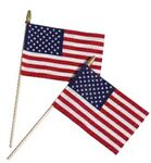 Custom Cotton Stick Flag W/Spear Tip (8