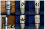 Custom RTIC stainless steel 20oz tumbler laser engraving and all setup and virtuals are included