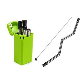 Stainless Steel Folding Straw With Case 9 x 0.25 (in)