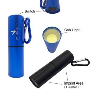 Cob LED Flashlight With Carabiner