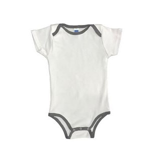 Infant One Piece Contrast Binding (3/6, 6/12, 12/18, 18/24)