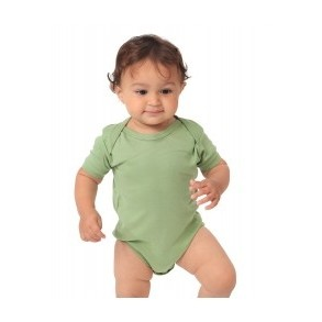 Infant Organic Short-Sleeve One-Piece Romper