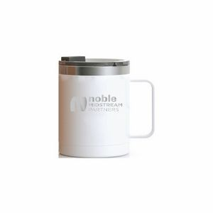RTIC 12oz White Stainless Steel Ringed Coffee Mug