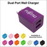 Custom Dual USB 2 Port Wall Charger - Purple