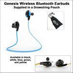 Custom Genesis Wireless Bluetooth Earbuds