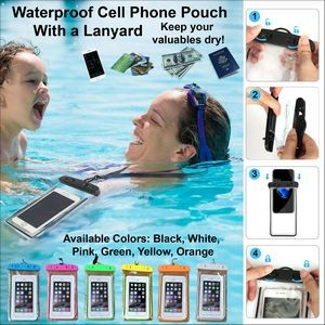 Waterproof Cell Phone Pouch w/Lanyard