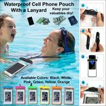 Custom Waterproof Cell Phone Pouch with Lanyard