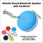 Custom Atlantis Round Bluetooth Speaker with Carabiner