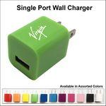 Custom Single Port USB Wall Charger - Green