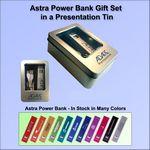 Custom Astra Power Bank Gift Set in Presentation Tin 1800 mAh