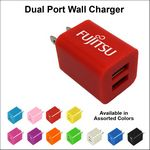 Custom Dual USB 2 Port Wall Charger - Red