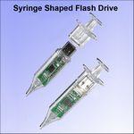 Custom Syringe Shaped Flash Drive - 128 MB