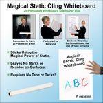 Custom Magical Static Cling Whiteboard - 23.5