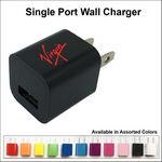 Custom Single Port USB Wall Charger - Black