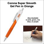 Custom Corona Super Smooth Gel Pen - Orange