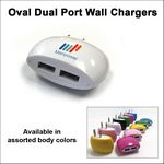 Custom Oval Dual Port Wall Charger