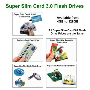 Credit Card Flash Drive 3.0 - 4 GB Memory