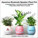 Custom Aquarius Bluetooth Speaker Plant Pot