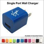 Custom Single Port USB Wall Charger - Dark Blue