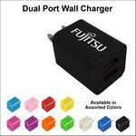 Custom Dual USB 2 Port Wall Charger - Black