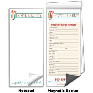 "3 1/2""x 8"" Full-Color Magnetic Notepads - Important Phone Numbers"