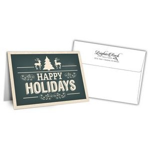 "5"" x 7"" Holiday Greeting Cards w/ Imprinted Envelopes - Happy Holidays"
