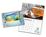 Custom Miniature Personalized Coloring Wall Calendar