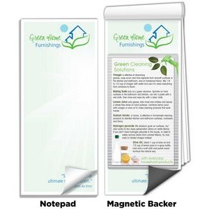 "3 1/2"" x 8"" Full-Color Magnetic Notepads - Green Cleaning Solutions"