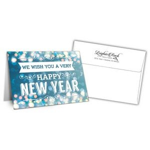 "5"" x 7"" Holiday Greeting Cards w/ Imprinted Envelopes - Happy New Years"