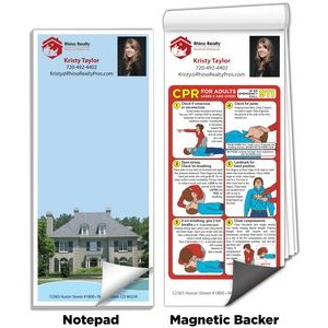 "3 1/2"" x 8"" Full-Color Magnetic Notepads - ABC's of CPR"