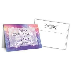 "5"" x 7"" Holiday Greeting Cards w/ Imprinted Envelopes - Merry Christmas"