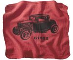 Custom Shop Towel --Red--14x14 (Imprint Included)