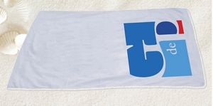Velour Beach Towel White 30X60 (IMPRINTED)