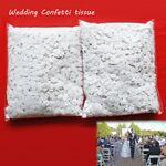 Custom White Flame Retardant Paper Confetti