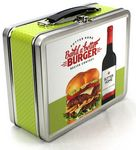 Custom Medium Retro Lunch Box w/ Laminated Vinyl Label