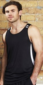 Flash Snag Resistant Biz Cool Mens Singlet Shirt