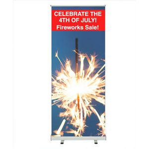 Slim Retractable Banner Stand Outdoor Retractable Banner Stand Lite 35 x 82