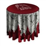 Custom Bar-Height Round Table Throw With Overhang