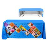 Custom 6Ft. Throw Style Table Cover - 3-Sided Front Panel Dye Sub - 72 In. W X 30 In. D X 29 In. H