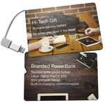 Custom 2500mAh Thin Business Card Shaped Power Bank