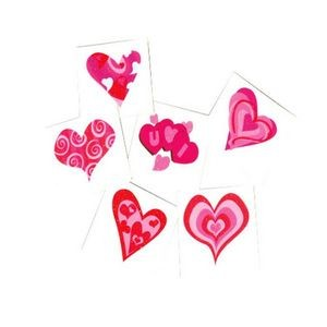 Heart Glitter Tattoos - 144/Gross (Case of 15)