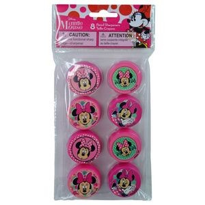 Minnie 8 Pack Round Sharpeners