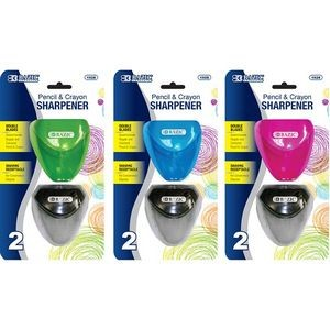 BAZIC Dual Blades Sharpener w/ Triangle Receptacle (2/Pack)